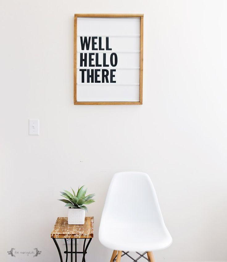 DIY Marquee Letter Board, to make, home, interior, design, simple, chair, retro, white