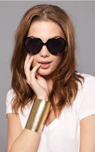 Black Heart-Shaped Women's Sunglasses