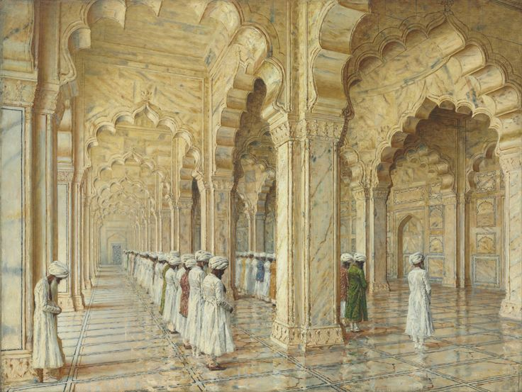 THE PEARL MOSQUE AT AGRA, VASILY Vasilievich VERESHCHAGIN, courtesy of Christie's | Flickr - Photo Sharing!