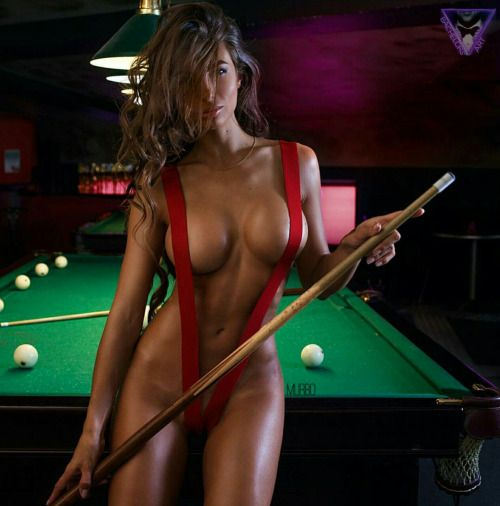 Incredible pool player....absolutely stunning beauty gorgeous in red.