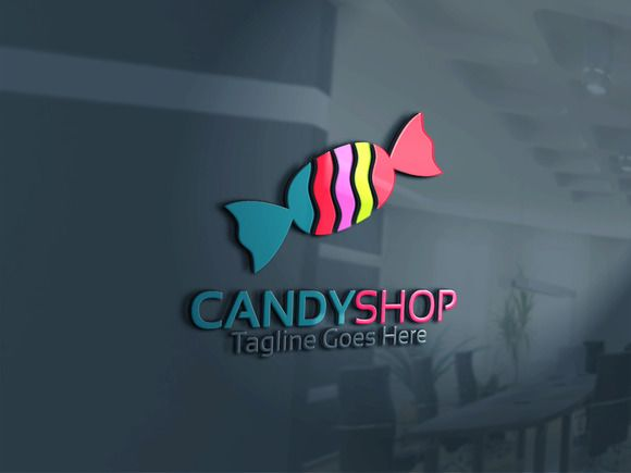 Candy Shop Logo  by Josuf Media on @creativemarket