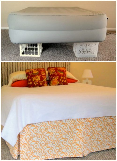 Have an empty bedroom? Create this DIY Headboard and Make-Believe Bed. Home Staging Tips and Ideas – Improve the Value of Your Home on Frugal Coupon Living.