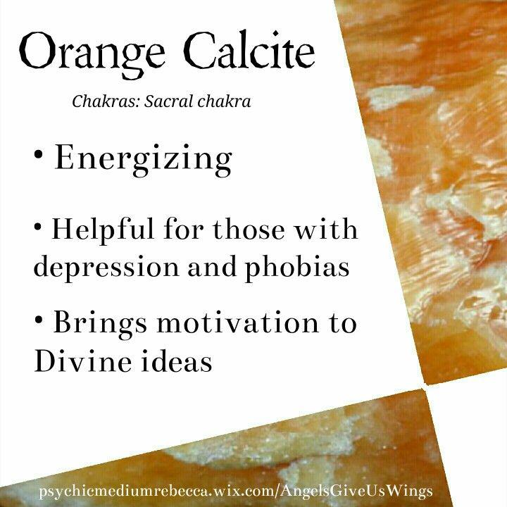 Orange Calcite Meaning Crystal Info Pinterest