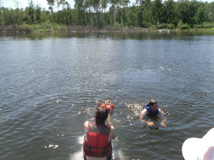 Cannonball! Water fun at Lucien Lake #lucienlake #swimming #cannonball #bigsplash #lakelife #lakefronthomes #lakefronthomes #sasklakefront #sasklakes