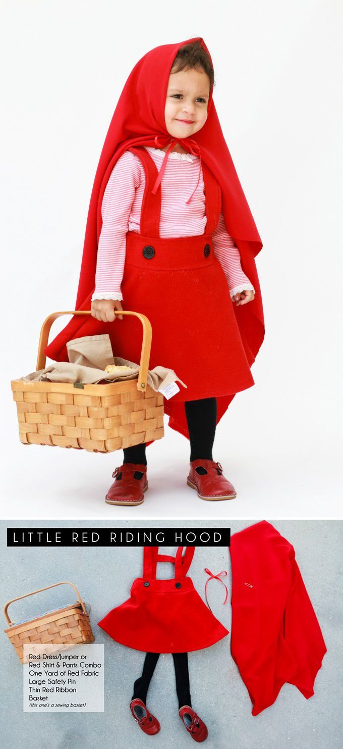 Little Red Riding Hood is adorable! Her basket can be used to collect candy and makes for a complete costume.