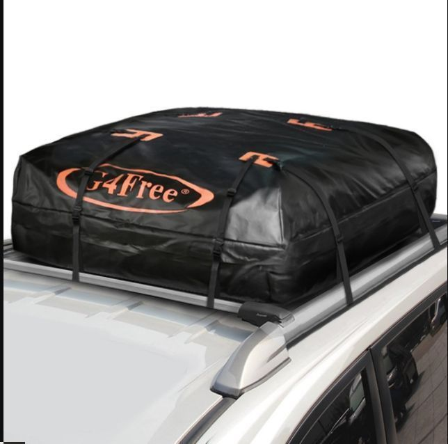 Car SUV Waterproof Travel Bag On Roof Top Cargo Luggage Carrier 15 Cubic Feet