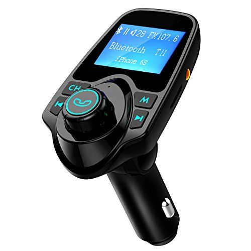 Transmetteur FM Bluetooth,VicTsing Kit de Voiture Sans Fil Mains-libres Adaptateur Radio avec Ecran d'affichage de 1,44 Pouces et Chargeur Voiture USB pour iPhone 7 7 Plus SE, Galaxy S7 S6, HUAWEI P9 P8, Sony Xperia, HTC, etc - Noir #Transmetteur #Bluetooth,VicTsing #Voiture #Sans #Mains #libres #Adaptateur #Radio #avec #Ecran #d'affichage #Pouces #Chargeur #pour #iPhone #Plus #Galaxy #HUAWEI #Sony #Xperia, #HTC, #Noir
