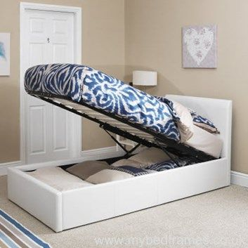 Tuscany Single #Ottoman #Bed in White, Brown or Black Faux Leather