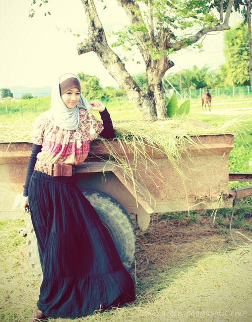 jilbab santai dengan paduan pakaian lebih santai