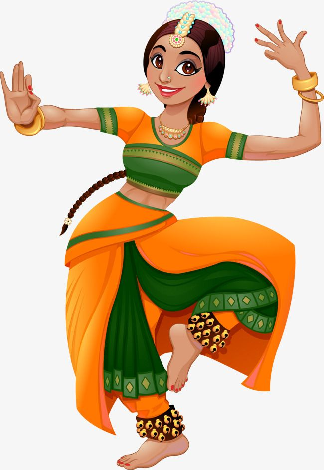 Vector Hand Painted Indian Girl Vector Hand Painted India Png