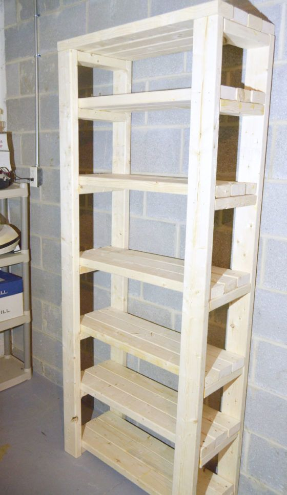 paint storage shelf made with 2x4s tag res de stockage. Black Bedroom Furniture Sets. Home Design Ideas