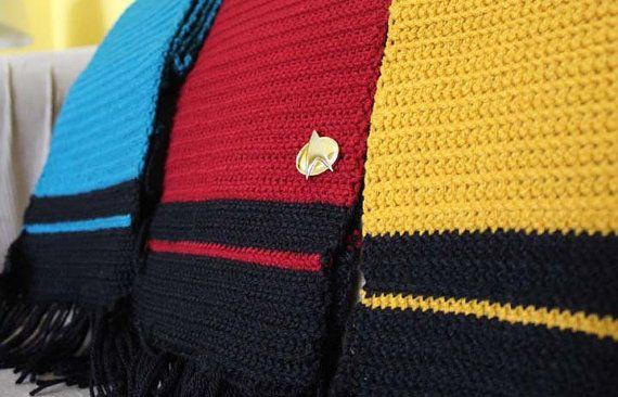 Star Trek The Next Generation inspired crochet scarf by ...