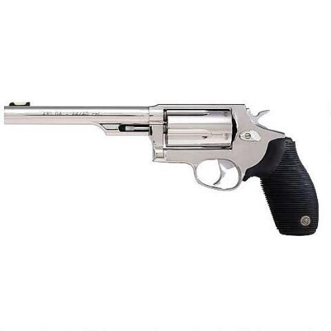 """Taurus Judge 4510 Revolver .45 Colt and .410 Bore 6.5"""" Barrel 5 Rounds Ribber Grip Stainless Finish 2-441069T - 725327600978"""