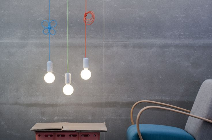 Concrete Lamp In Multiple Colours by Jakub Velinsky made in Czech Republic on CROWDYHOUSE