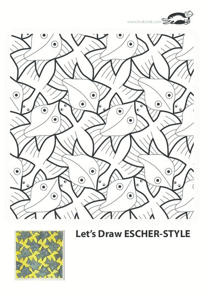 m c escher coloring pages - photo #29