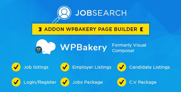 Wp JobSearch Plugin Short-codes Addon For Wp Bakery Page Builder