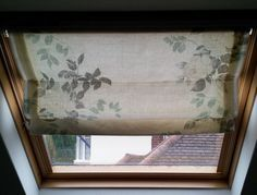 how to make a velux blind- although a velux, it's virtually the same as a Roman and lovely clear Instructions