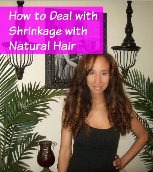 How to Deal with Shrinkage with Natural Hair. Featured on Natural Hair Mag.