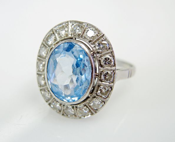 Beautiful Vintage Topaz Ring  #bluetopaz #engagement #theultimate