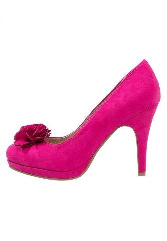 escarpins plateforme rose fushia pompon tamaris clickndress - Chaussure Fushia Mariage