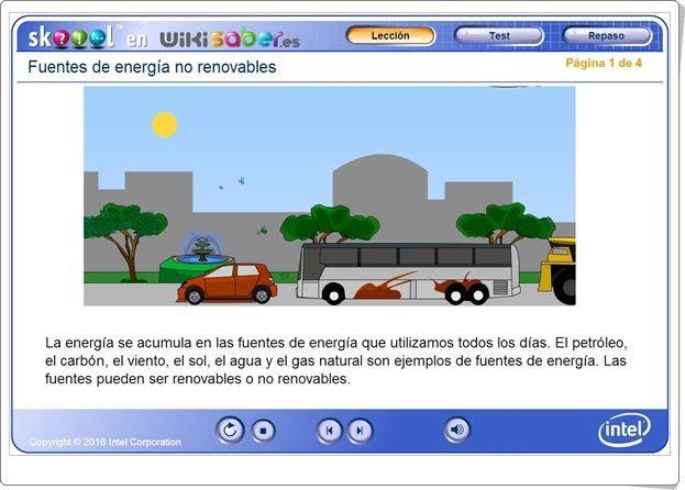 """""""Fuentes de energía no renovables"""" (Ciencias Naturales de Primaria). Skoool.es."""