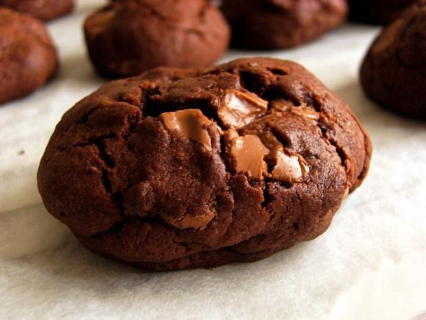 Don't be fooled by the crunchy exterior. These cookies have a buttery, moist filling that envelopes a parade of chocolate covered raisins.