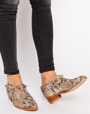 ASOS AGONY Leather Ankle Shoe Boots