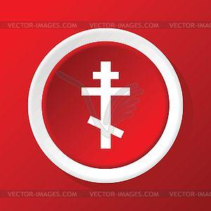 Православная икона крест на красном - векторное изображение EPS
