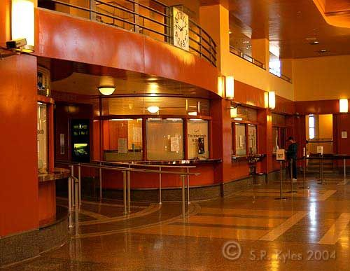 Interior of the Hamilton Bus Terminal, a gorgeous Art Moderne building  situated downtown