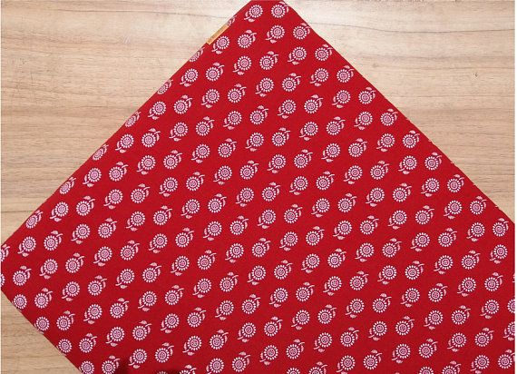 5 yards Red Leaf print Fabric,Indian Cotton Fabric, Bagru Print Fabric, Cotton Fabric, Sanganer Print Fabric, Block Print Fabric  #054