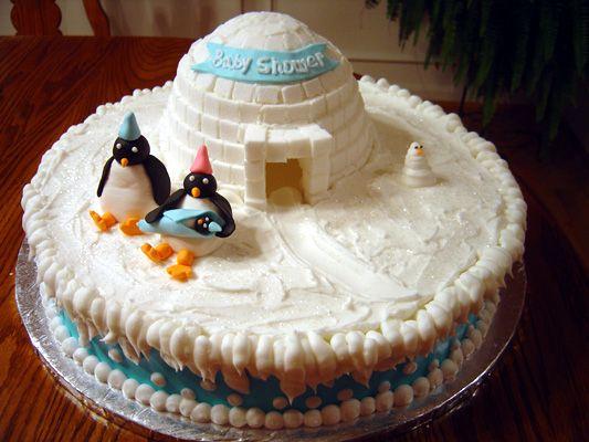 penguin baby shower | Baby Shower Cakes