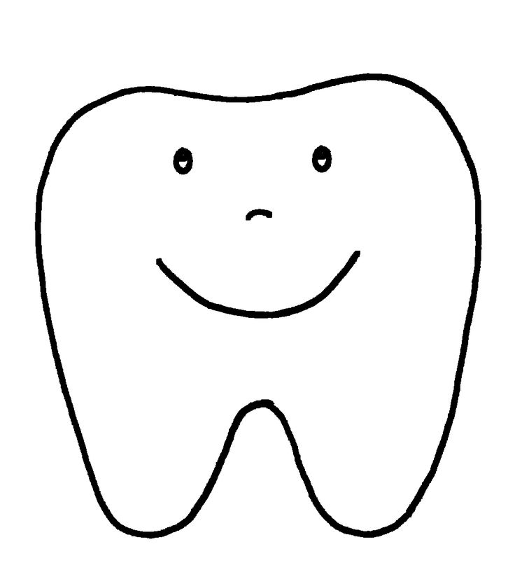 Happy Tooth Pattern or Coloring Page pinned @ I Love ...