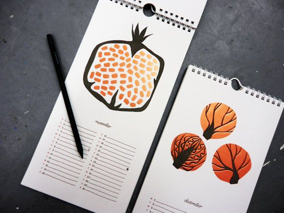 Produce Calendar by KarolinSchnoor on Etsy
