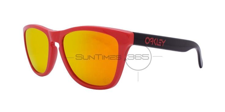 Oakley Frogskins Heritage Oo9013-34 Red / Fire Iridium