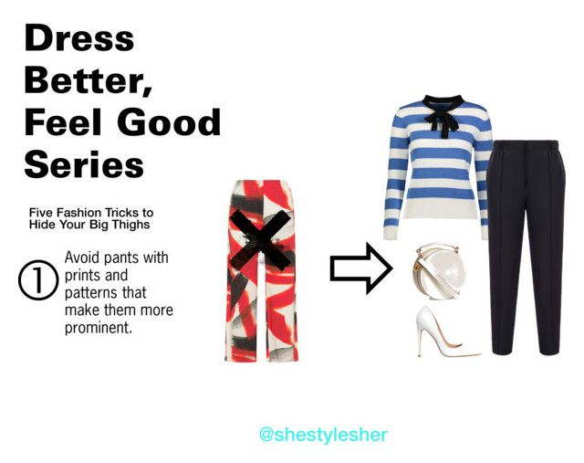 """""""Dress Better, Feel Good Series: 5 Fashion Tricks to Hide Your Big Thighs"""" by shestylesher on Polyvore featuring YAL New York, Bally and Steve Madden"""