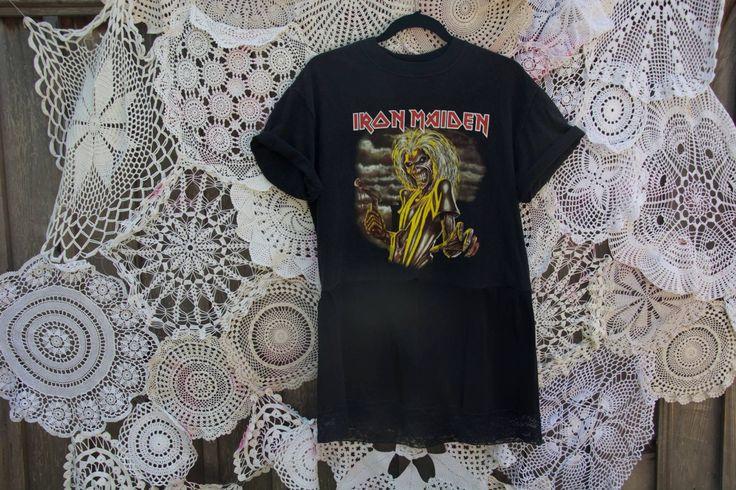 Vintage Iron Maiden Rocker Slip Dress by byjulesbyjo on Etsy