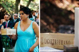 Ritual de la caja de vino para la ceremonia de la boda