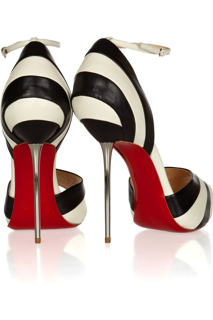 Christian Louboutin: 20Th Anniversaries, Color Combos, Black And White, Ladies Shoes, Leather Pumps, Black White, Heels, Christian Louboutin, Christianlouboutin
