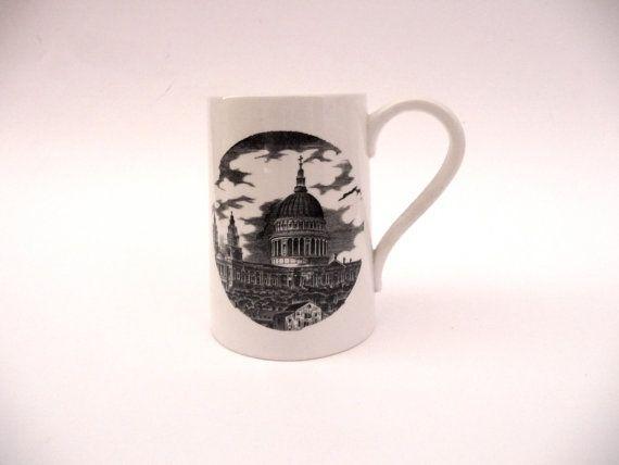 Vintage Portmeirion Mug Susan Williams-Ellis London Prints St