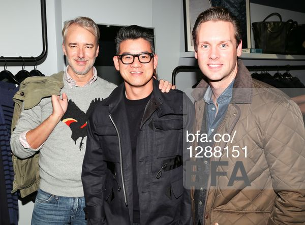 Michael Bastian, Peter Som, Neil Pirie at CRAFT ATLANTIC store launch party. #BFAnyc