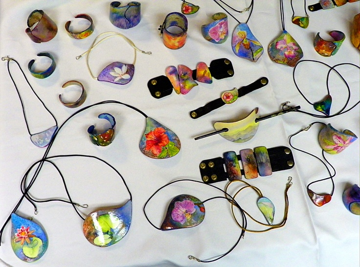 Some of the most beautiful jewelry I have ever seen. Watercolor Jewelry by Ross Barbera