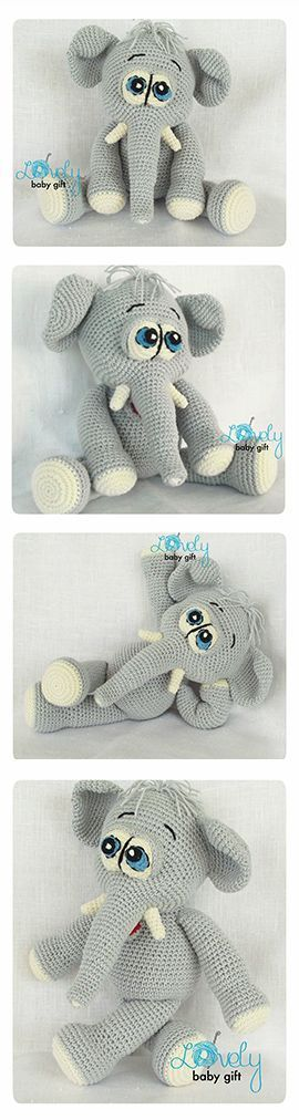 Amigurumi Elephant Pattern, crochet pattern, amigurumi pattern