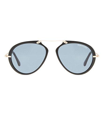 TOM FORD Aaron Tf472 Aviator Sunglasses. #tomford #sunglasses