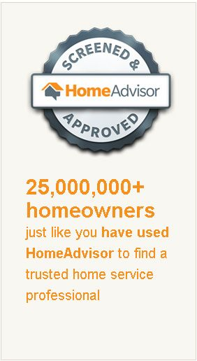 With this seal you know your finding a screened & approved service professional from the #HomeAdvisor network.