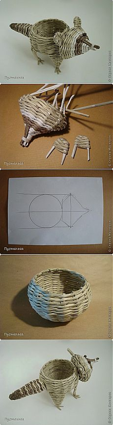 Плетем из бумаги вазочку «Енотик» - Сам себе волшебник