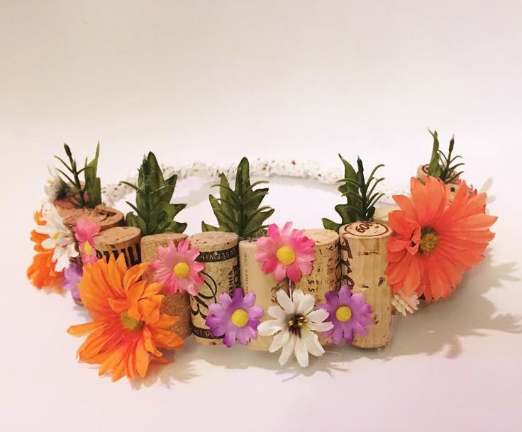 Coachella inspo flower cork crown by KrisCampCreations on Etsy