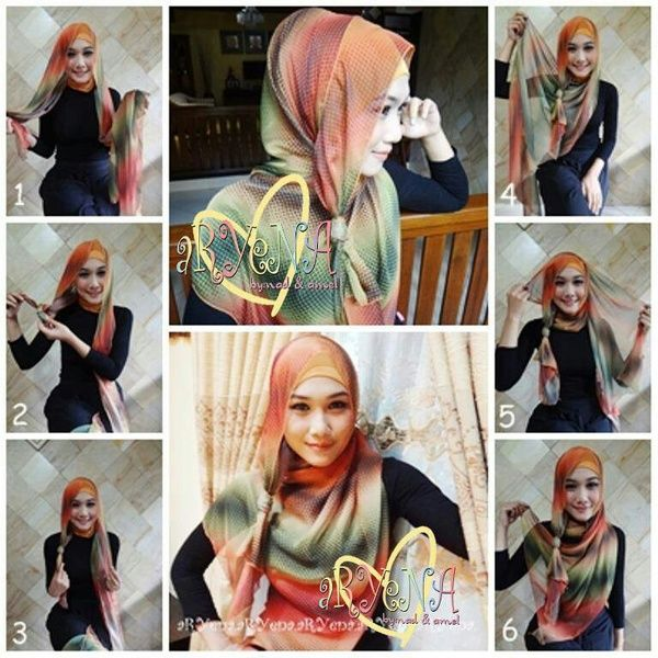 Simple and easy daily hijab tutorial: pashmina