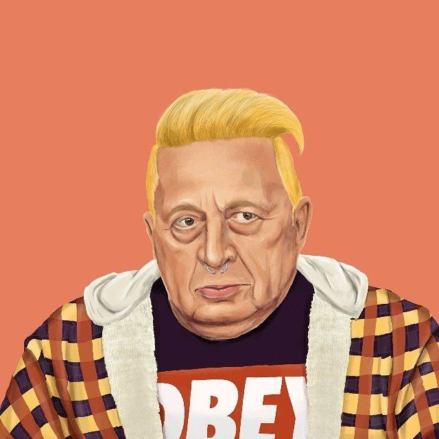 Ariel Sharon  This Creative Artist Re-Imaged 18 World Leaders As Hipsters • BoredBug