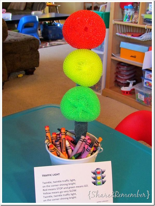 Share and Remember: Traffic Light Prop/Puppet & Song Card Printable