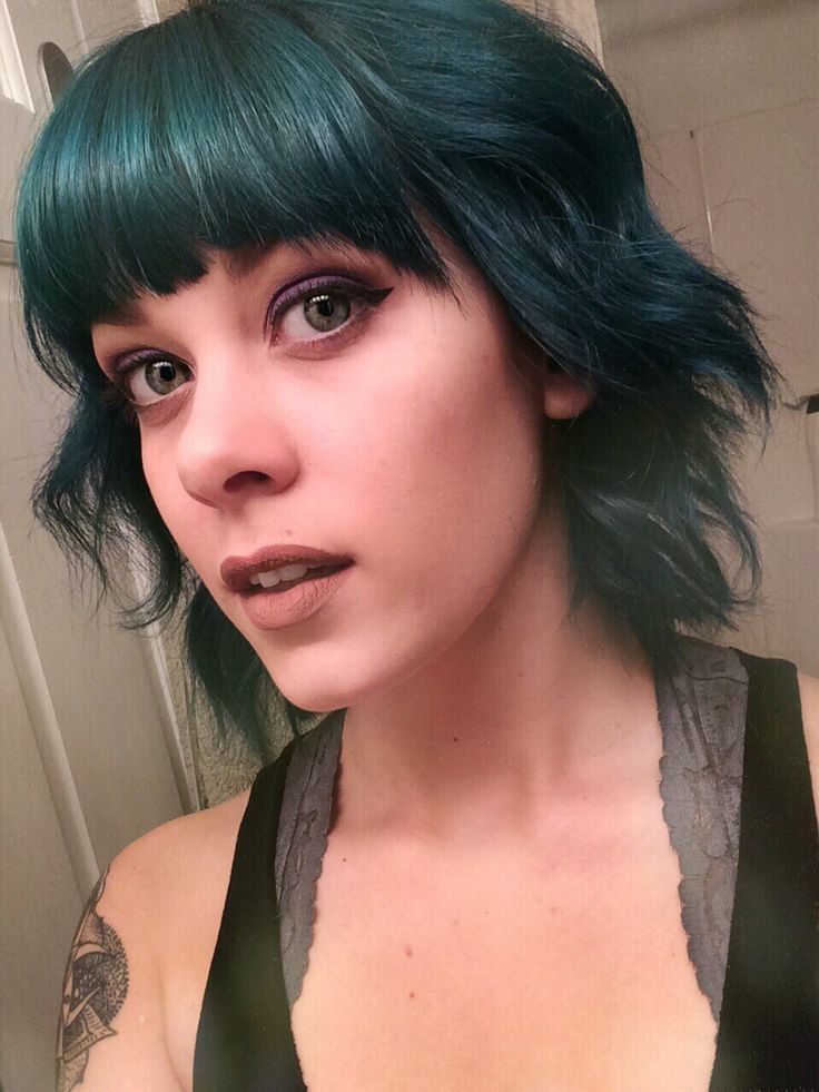 Manic panic enchanted forest sirens song emerald green hair Jeanell Kissinger